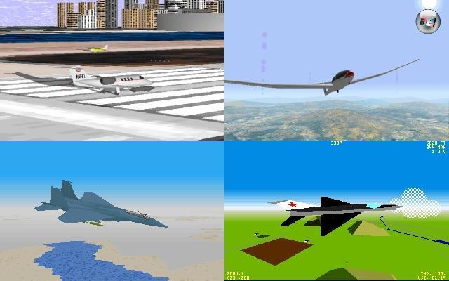 Der nächste wichtige Vertreter, und auch der mit weitem Abstand am häufigsten anzutreffende, ist die nennenwirsiemal »einfache Simulation«: Noch nicht so ganz Arcade, aber auch kein Spiel, für das man ein abgeschlossenes Ingenieurs-Studium braucht. Also Simulationen, die man tatsächlich einfach genießen kann, in denen Herumexperimentieren nicht gleich mit qualmenden Löchern im Boden bestraft wird. Spiele wie der Microsoft Flight Simulator, Flight Unlimited, Chuck Yeager's Air Combat, F-15 Strike Eagle 3, F-14 Fleet Defender oder Lucasfilm Games' Secret Weapons of the Luftwaffe. 2097778
