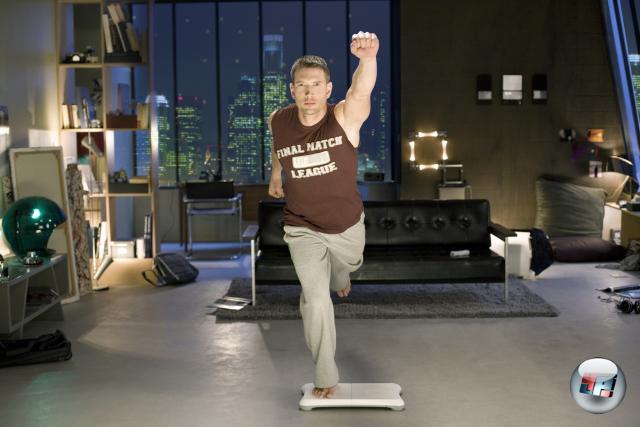 Supermaaan! Ja, man kann auch mit Wii Fit trainieren und gleichzeitig männlich aussehen. Das New Yorker Penthouse ist übrigens nicht im Lieferumfang enthalten. 1769198