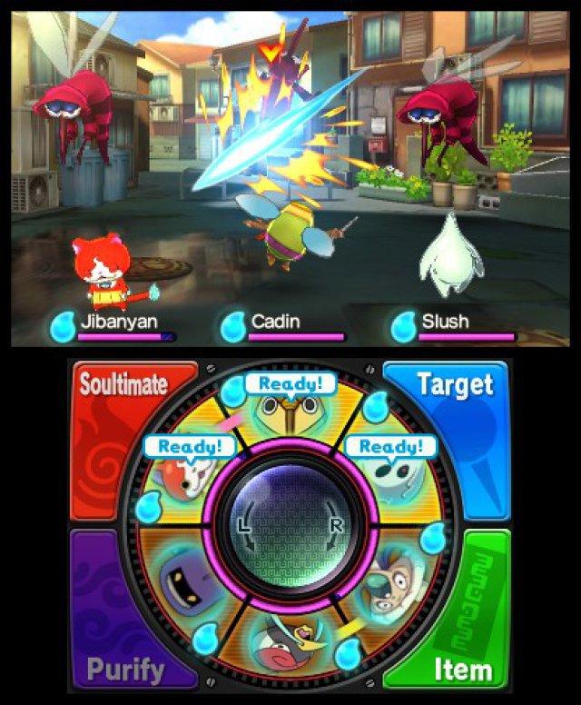 Als Spieler greift man nur passiv mit Mini-Spielen in den Kampf ein.