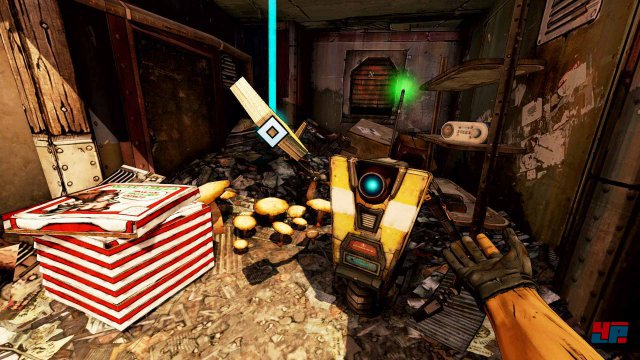 Kult-Roboter Claptrap gibt auch in VR wieder die lustige Nervensäge.