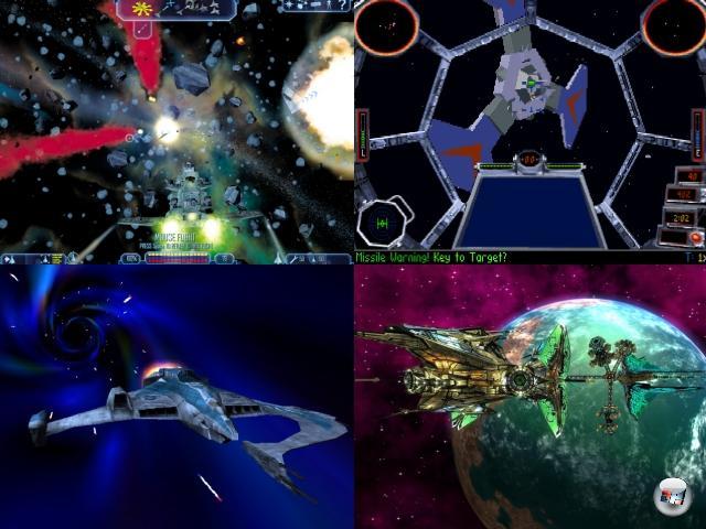 <b>Das Erbe</b>Das Genre der Space Opera ist im Großen und Ganzen tot, das war ja schon mal das Thema einer Bilderserie. Nichtsdestotrotz löste Wing Commander gerade in den 90er Jahren eine gigantische Welle an Nachahmern und inoffiziellen Nachfolgern aus, die teilweise selber in die Spielegeschichte eingingen - Namen wie Privateer, Starlancer, Freelancer oder Darkstar One sollten jedem Laserfan etwas sagen. Von TIE Fighter, Freespace, Independence War, der X-Reihe oder Tachyon: The Fringe ganz zu schweigen. Werden wir uns jemals wieder so richtig in die Weiten des Weltalls schwingen und die Massebeschleuniger sprechen lassen? Man kann es nur hoffen. Erheben wir die vakuumsicheren Gläser auf Wing Commander - möge es ewig leben! 2160163
