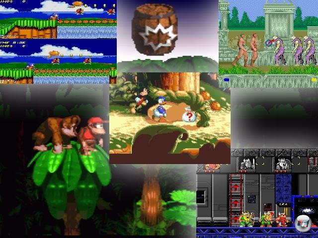 Zurück in die Vergangenheit: Pixel sind toll! Genau wie Jump-n-Runs! Und was passiert, wenn man dieser Erfolgsformel noch einen Koop-Modus spendiert? Nun, im Falle von Altered Beast machte der Zweispieler-Modus immerhin ein nur schlechtes aus einem beschissenen Spiel, aber danach ging's aufwärts: Sonic 2, World of Illusion, Donkey Kong Country oder The Lost Vikings waren durch die Bank ebenso super wie sozialkompetent wertvoll. Win! 1879913