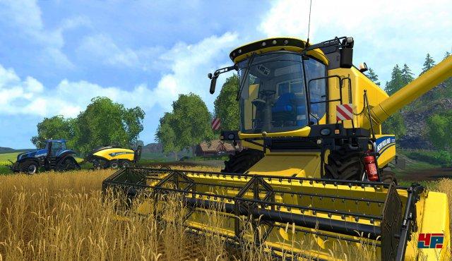 Erntezeit: Das Wachstum der Feldfrüchte dauert deutlich kürzer als in der realen Welt und lässt sich in den Optionen beschleunigen.