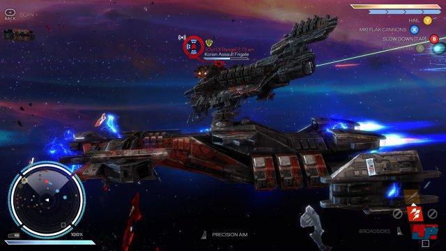 Auch wenn die Gegner in verschiedenen Höhenstufen fliegen, wird nur auf einer planen 2D-Ebene gekämpft.