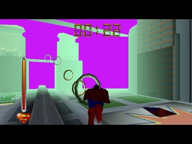 Superman 64 (1999)<br><br>Den Kommentar »Eines der schlechtesten Spiele aller Zeiten« hört und liest man im Zusammenhang mit Superman 64 verdammt oft. Kein Wunder, schließlich gilt das von Titus entwickelte, auf der Superman-Zeichentrickserie basierende Game als Bodensatz des N64-Spielekatalogs: Die Grafik zeigte gefühlte zehn Polygone, von denen die Hälfte von einem scheußlich hässlichen grünen Nebel verdeckt wurde. Die Steuerung ließ viele Spieler daran zweifeln, dass ihre Hände noch normal funktionierten. Und die absurde Story drehte sich darum, dass Erzfeind Lex Luthor eine virtuelle Stadt errichtet hat, in der er Superman gefangen hielt und ihn zwang, die meiste Zeit durch Ringe zu fliegen. Armer Superman: Bislang gibt es kaum ein brauchbares Game mit dem Stählernen - auch das Anfang des Jahres von EA veröffentliche Superman Returns fiel bei der Kritik gnadenlos durch. 1723554