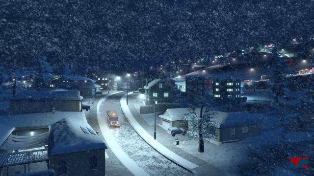 """Zusammen mit der ersten Erweiterung """"After Dark"""" kommt es zu abendlichen Wintergemälden."""