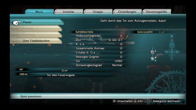 Für S-Rang benötigte Zeit: max. 0:08:00, gesammelte Animae: mind. 40, Anzahl der KOs: 0