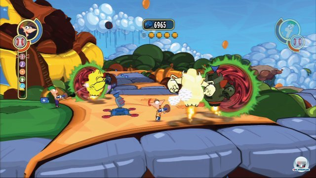 Screenshot - Phineas und Ferb: Quer durch die 2. Dimension (PSP)