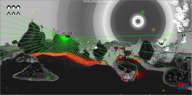 Die wild gemischten Soundeffekte wirken ähnlich durchgeknallt wie das Artdesign.