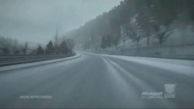 Schnee auf dem Nuerburgring